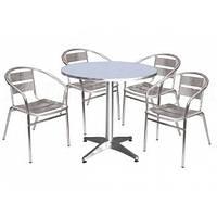 Комплект алюминиевой мебели стол ALT-8010 + 4 стула ALC-3030, фото 1
