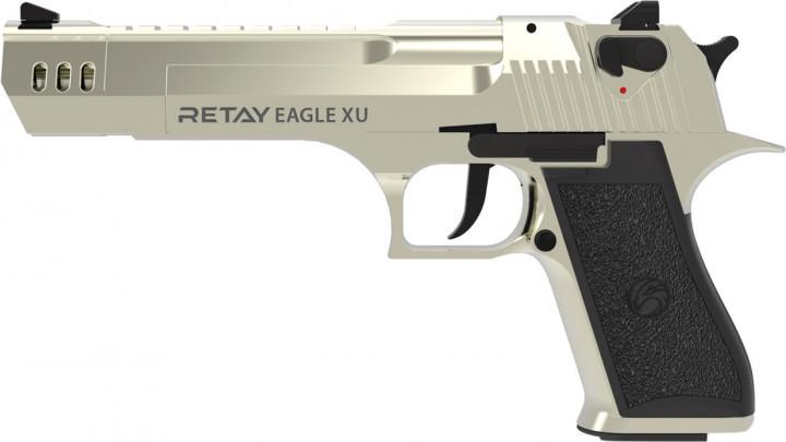 Пистолет сигнальный, стартовый Retay Desert Eagle XU (9мм, 17+1 зарядов), сатин