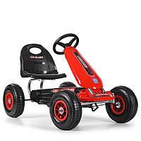Детская педальная машина веломобиль Карт M 3626A-3