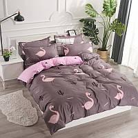 Комплект постельного белья Фламинго с простынью на резинке (полуторный) Berni
