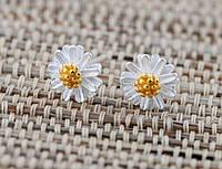 """Серебряные серьги гвоздики """"цветочек"""""""