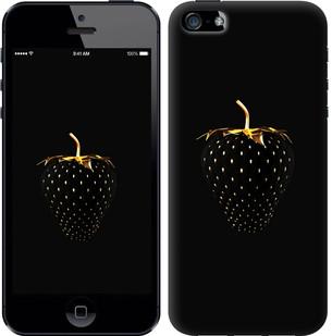 """Чехол на iPhone 5s Черная клубника """"3585u-21-19380"""""""