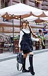 Школьный сарафан для девочки на бретельках школьная форма размер: 134, 140, 146, 152, фото 3