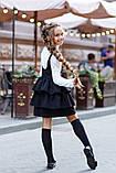 Школьный сарафан для девочки на бретельках школьная форма размер: 134, 140, 146, 152, фото 4