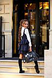 Школьный сарафан для девочки на бретельках школьная форма размер: 134, 140, 146, 152, фото 5