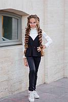 Школьный костюм жилет+брюки школьная форма итальянский трикотаж рост: от 134 до 152 см