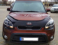 Дефлектор капота (мухобойка) Kia Soul 2012-2014 рестайлинг, Vip Tuning, KA37