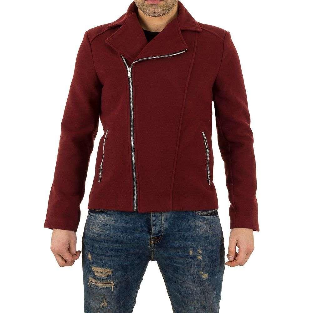 Пальто мужское байкерское Uniplay (Европа), Бордовый