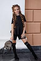 Школьный костюм блузка и шорты школьная форма для девочки размер: 134, 140, 146, 152, фото 1