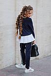 Школьный костюм свитшот+штаны школьная форма размер: 128, 134, 140, 146, фото 3