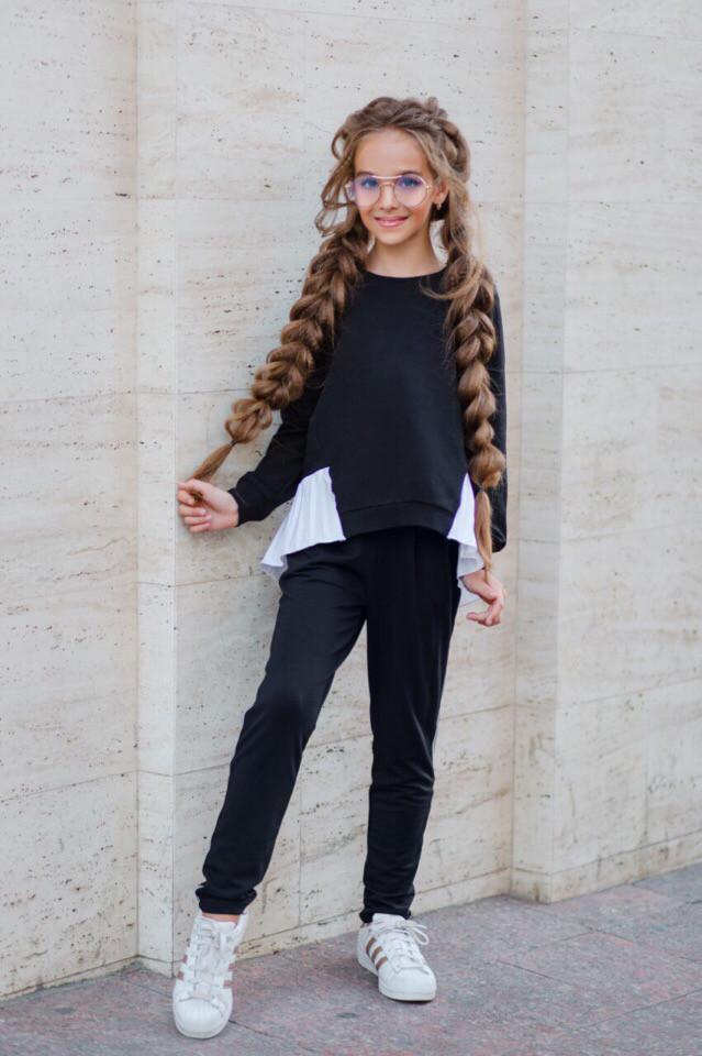 Школьный костюм свитшот+штаны школьная форма размер: 128, 134, 140, 146