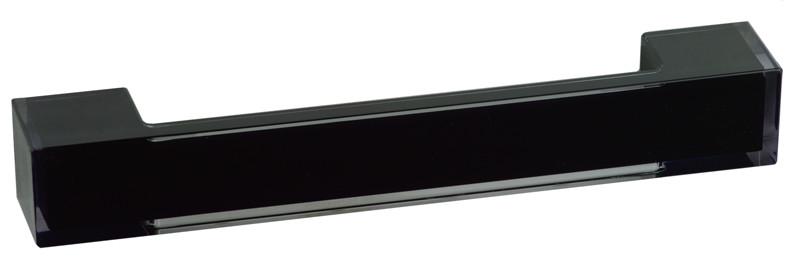 Ручка меблева 306 прозора/чорна (РП-31/160-Ч)