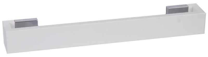 Ручка 037B біла/хром (РП-32/160-МБ)