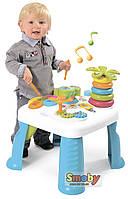 Развивающий игровой стол Smoby, развивающий детский столик голубой 211169