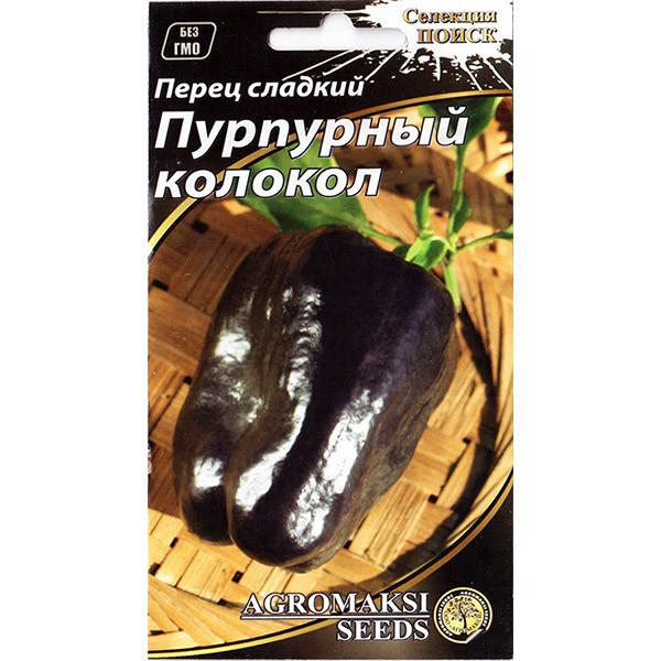 """Семена перца среднеспелого, сладкого """"Пурпурный колокол"""" (0,2 г) от Agromaksi seeds"""