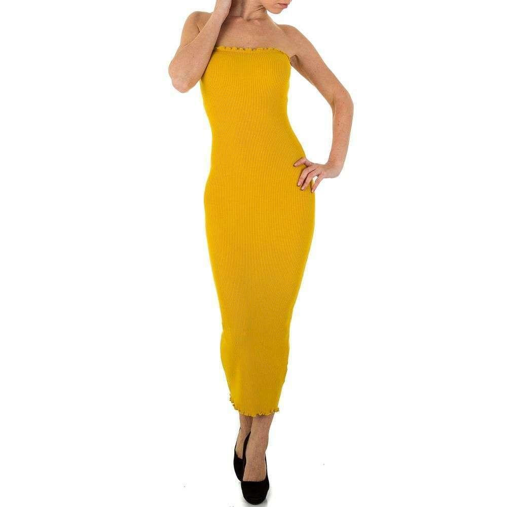 Женское платье из Shk Paris Gr. One Size - yellow - KL-K161-yellow
