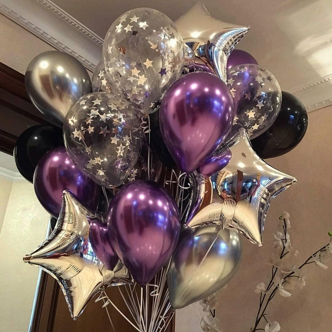 Букетик з хромованими кульками