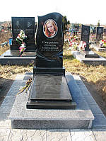 Памятник с цветным фото на керамике № 035