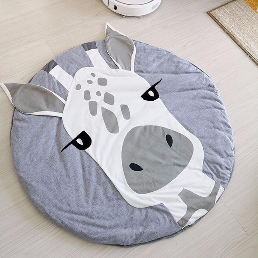 Детский игровой коврик из хлопка на пол (жираф)