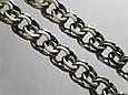 Серебряная цепь Плоский (классический) Бисмарк. 55 см, вес 71,7 гр. Ручное плетение. 925 проба, фото 5