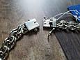 Серебряная цепь Плоский (классический) Бисмарк. 55 см, вес 71,7 гр. Ручное плетение. 925 проба, фото 3
