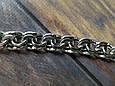 Серебряная цепь Плоский (классический) Бисмарк. 55 см, вес 71,7 гр. Ручное плетение. 925 проба, фото 2