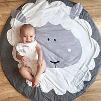Детский игровой коврик из хлопка на пол (овечка)
