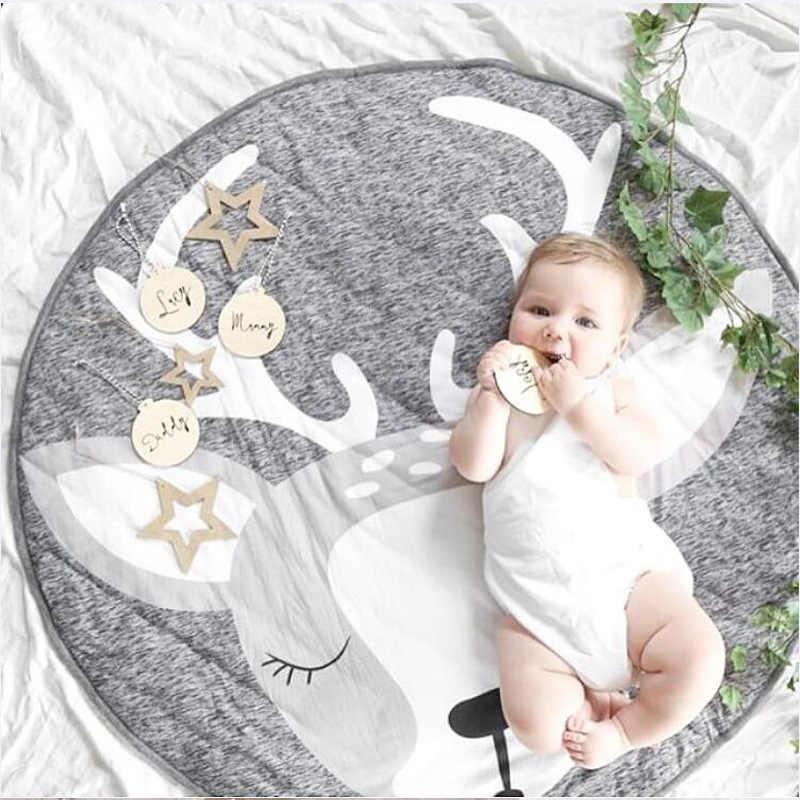 Детский игровой коврик из хлопка на пол (оленёнок)