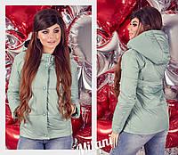Женская куртка на весну матовая с капюшоном, фото 1