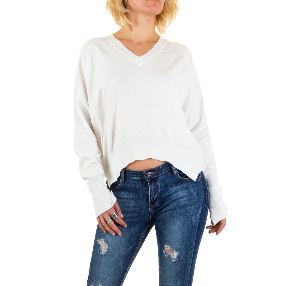 Женский пуловер с удлиненной спинкой Jcl Paris (Франция), Белый