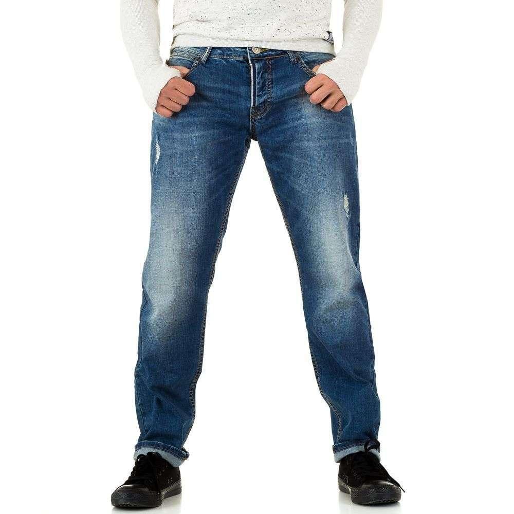 Прямые джинсы мужские Y.Two Jeans (Италия), Синий