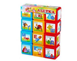 "Кубики ""Азбука"" 12шт, арт. 06042, М-TOYS"