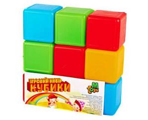 Кубики цветные 9шт., УКРАИНА