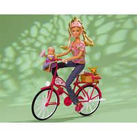 Кукла для девочки Штеффи с малышом на велосипеде Simba Steffi Love 5739050