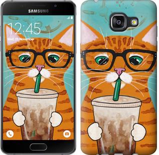 """Чехол на Samsung Galaxy A5 (2016) A510F Зеленоглазый кот в очках """"4054c-158-19380"""""""