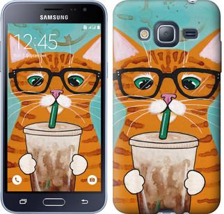 """Чехол на Samsung Galaxy J3 Duos (2016) J320H Зеленоглазый кот в очках """"4054c-265-19380"""""""