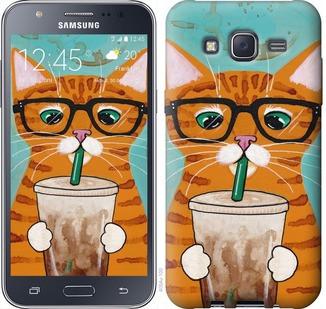 """Чехол на Samsung Galaxy J5 (2015) J500H Зеленоглазый кот в очках """"4054c-100-19380"""""""