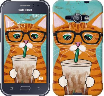 """Чехол на Samsung Galaxy J1 Ace J110H Зеленоглазый кот в очках """"4054c-215-19380"""""""