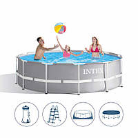 Каркасный бассейн Intex 26720 с полным комплектом 427*107см