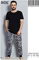 Домашний костюм мужской (пижама) брюки и футболка М-L-XL-2XL