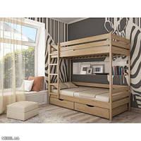 Кровать Дуэт массив 80х190