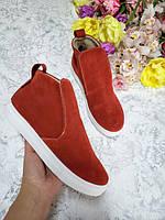 Хорошие слипончики для девочки рыжего цвета, подростковая обувь оптом от производителя