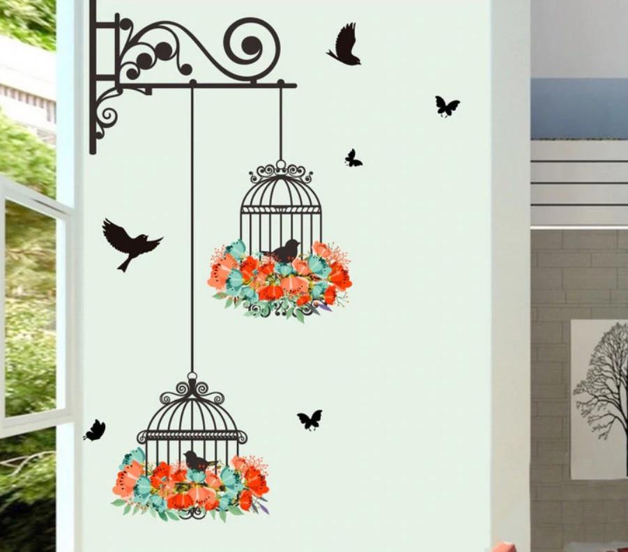 """Наклейка на стену """"Летающие птицы 2"""""""