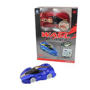 Антигравитационная машинка Wall Racer Синяя