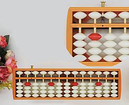 Счеты абакус соробан с кнопкой сброса 13 рядов Game toys
