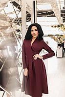 Женское платье со складками ниже колена, фото 1