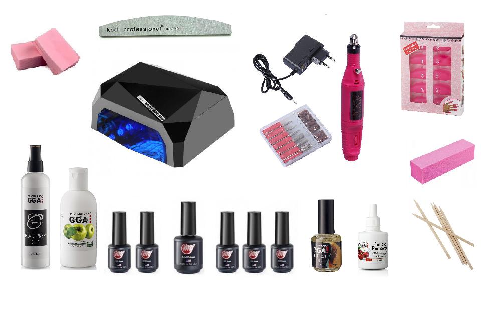 Стартовый набор для покрытия ногтей гель-лаком My Nail с гибридной лампой Diamond и фрезером 13000 оборотов