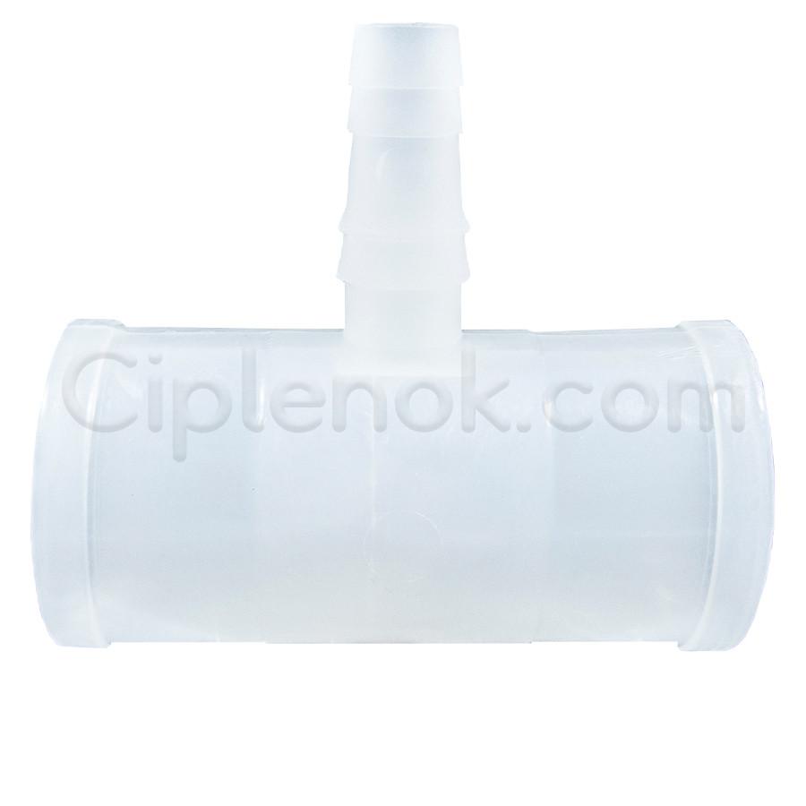 Пластиковый тройник на круглую трубу (25мм-10мм-25мм)