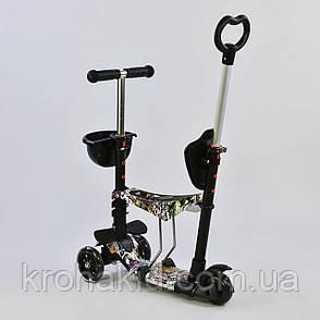 Самокат-беговел  5в1 64020  Best Scooter, АБСТРАКЦИЯ (черный) , фото 2