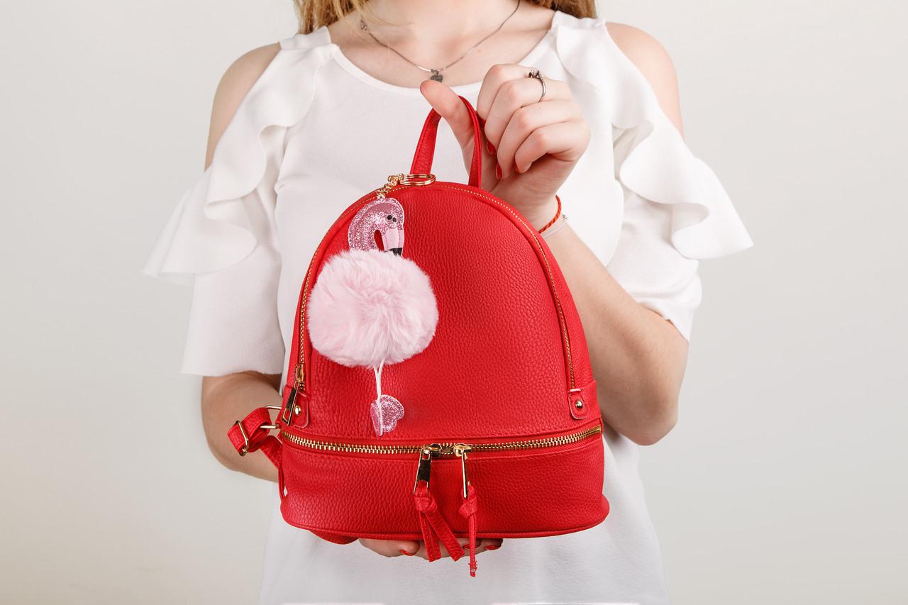 Модный женский городской рюкзак красного цвета, польский бренд FB2011